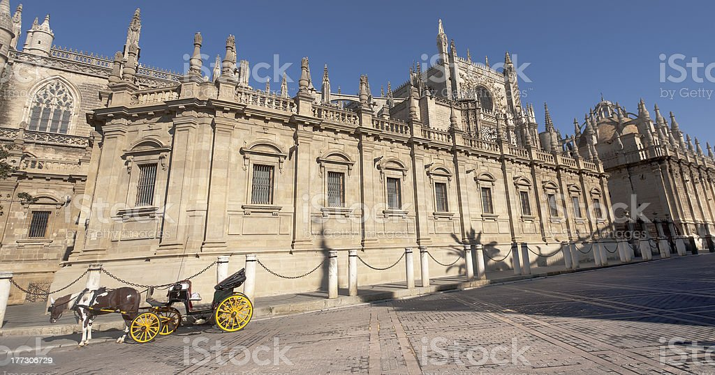 Cathedral square royalty-free stock photo