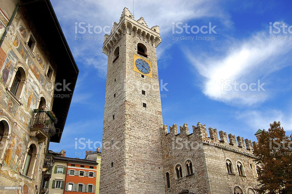 Cathedral Square - Trento Italy stock photo