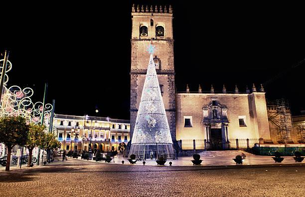 Cathedral square con el árbol de navidad - foto de stock