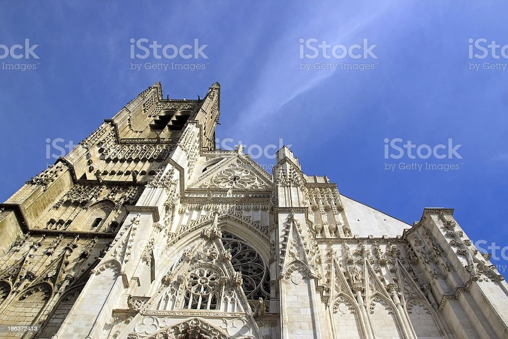 Cathedral St Etienne, Auxerre France stock photo