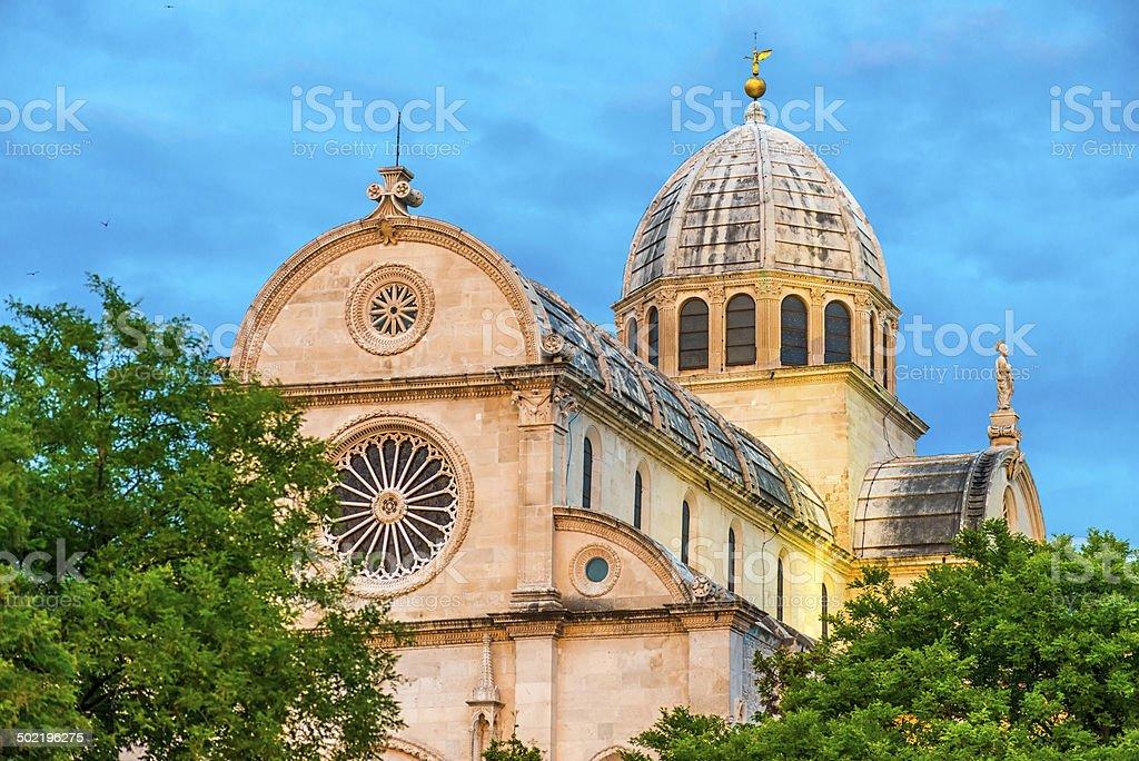 Cathedral St James, Sibenik, Croatia stock photo