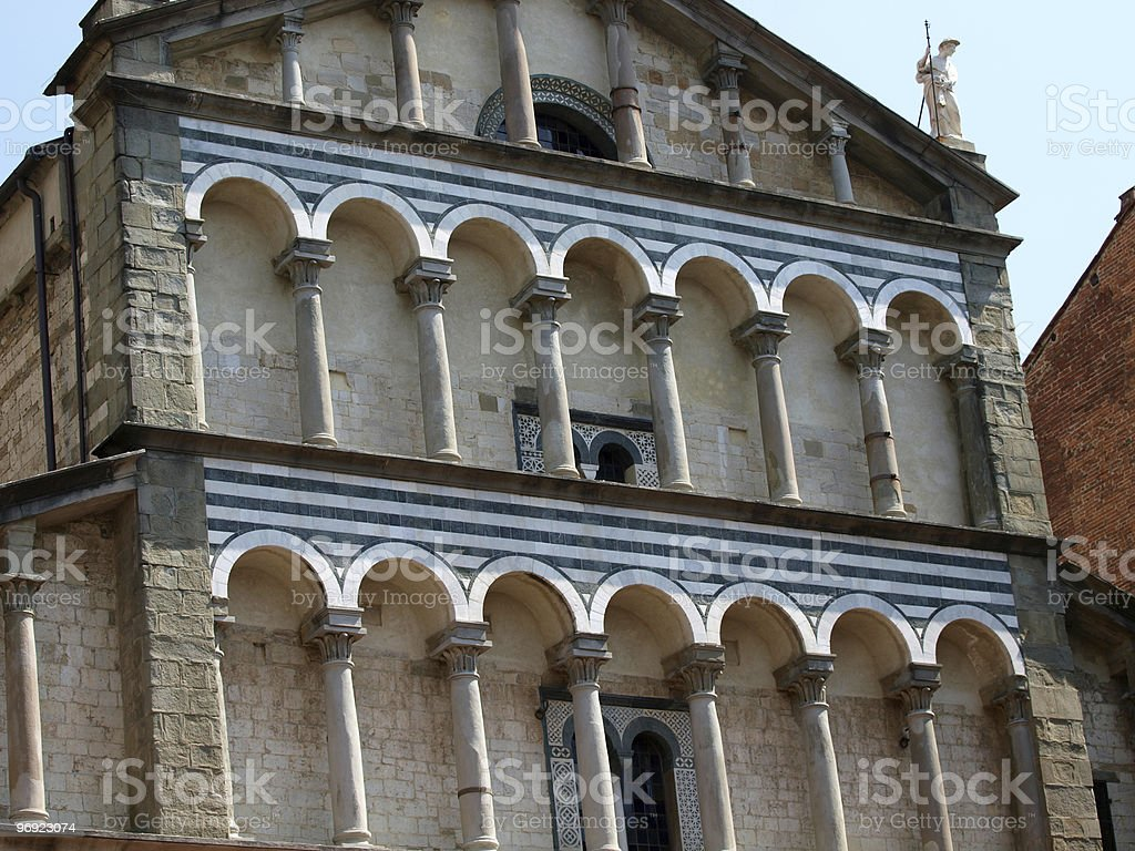 Cathedral St Zeno's - Pistoia Italy royalty-free stock photo
