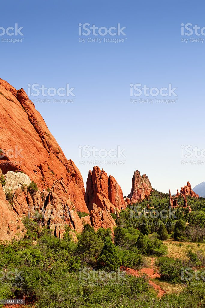 Cathedral Valley - Garden of the Gods stock photo