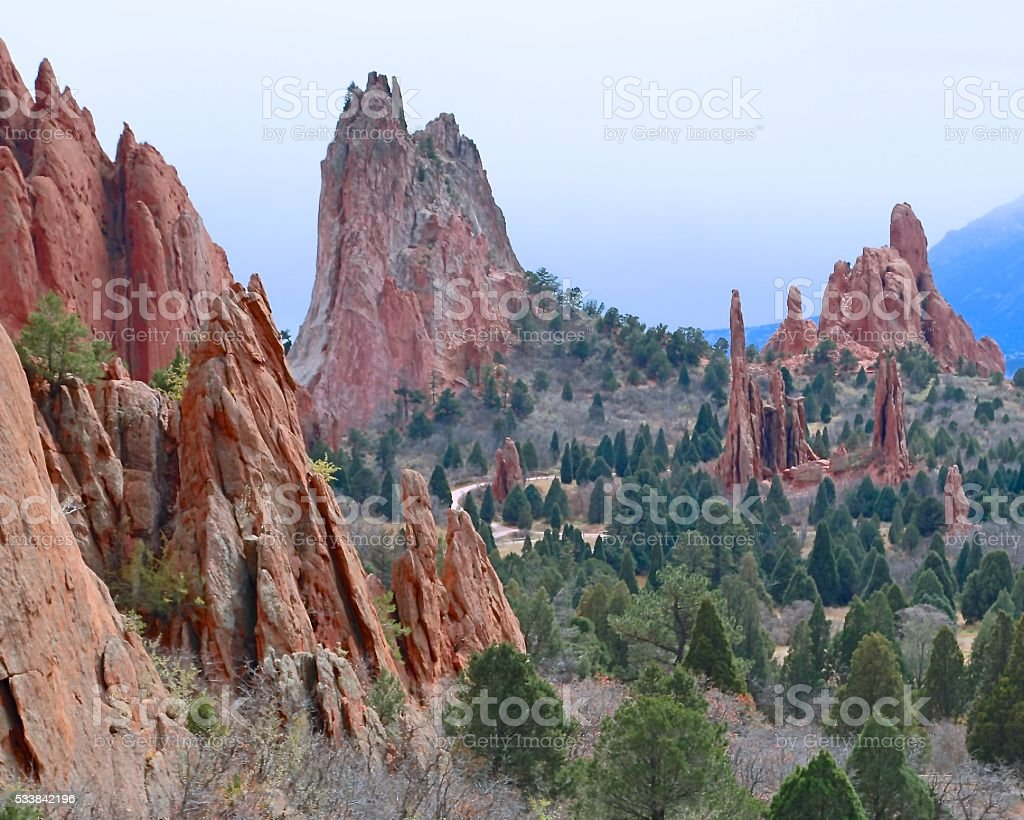 Cathedral Valley in Garden of The Gods stock photo
