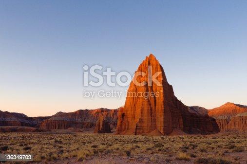 Cathedral Valley at dawn, Capitol Reef national park, Utah