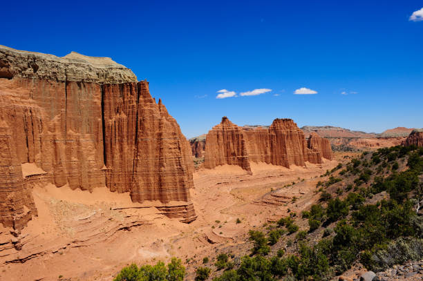 Cathedral Wash Cathedral Wash at Capitol Reef National Park, Utah entrada sandstone stock pictures, royalty-free photos & images