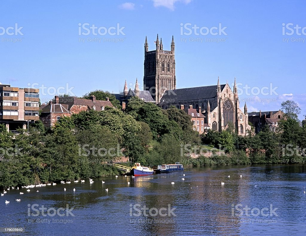 Cathedral, Worcester, England. stock photo