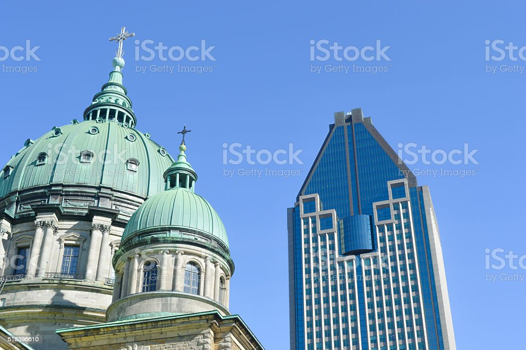 Cathedral-Basilica of Mary in Montreal stock photo