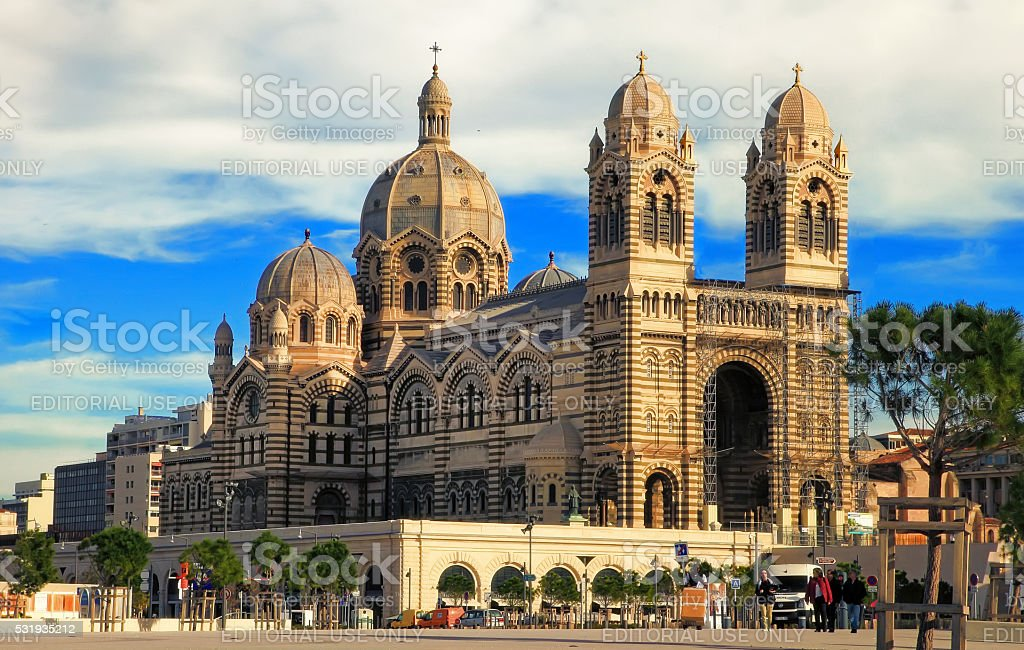 MARSEILLES, FRANCE - Cathedrale de la Major in Marseilles. stock photo