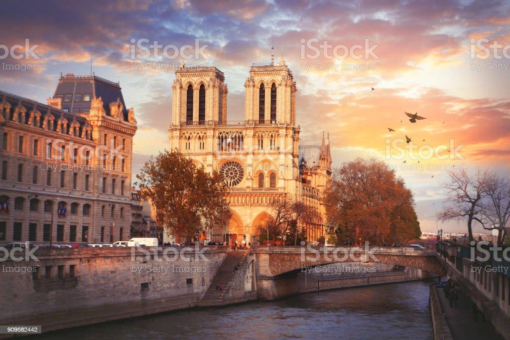 Cathedrale Notre-Dame de Paris stock photo