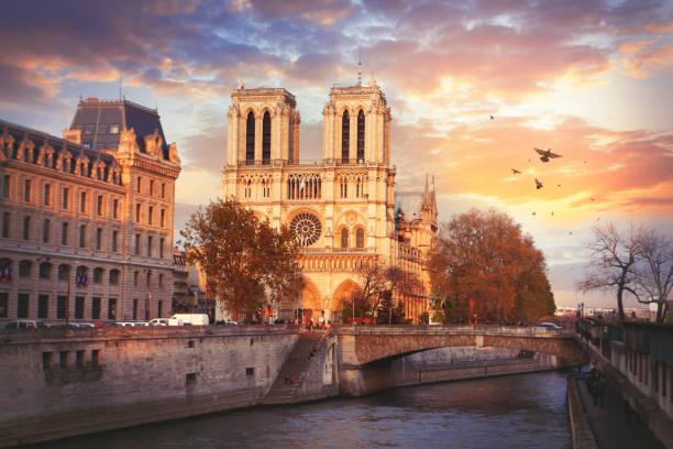 cathedrale notre-dame de paris - kathedrale von notre dame stock-fotos und bilder