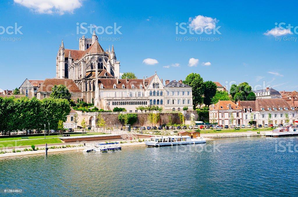 Cathedrale Saint-Etienne, Auxerre, France stock photo