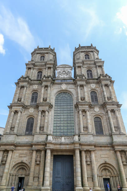 Cathedrale Saint-Pierre is a Roman Catholic church in the centre of Rennes. stock photo