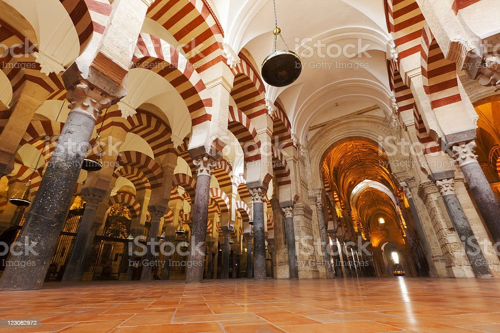 Cathedral–Mosque of Córdoba Praying Hall stock photo