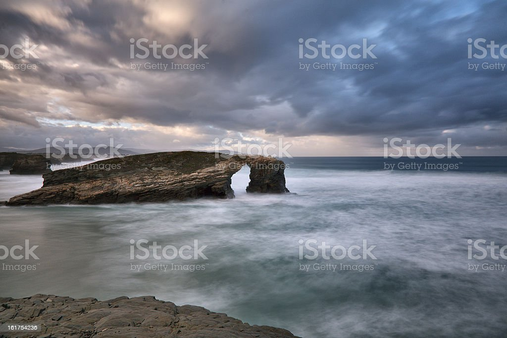 Playa de las Catedrales royalty-free stock photo