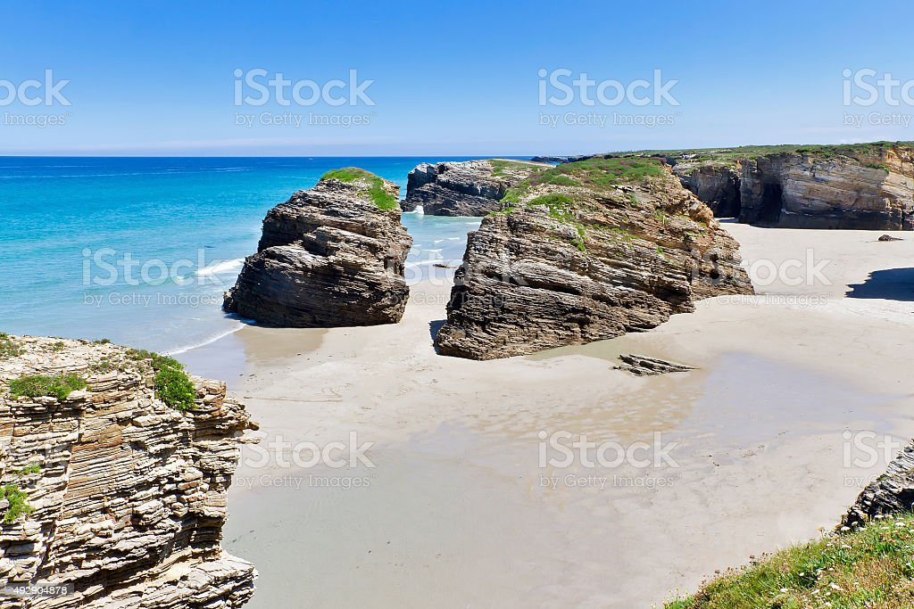 Cathedrals beach stock photo