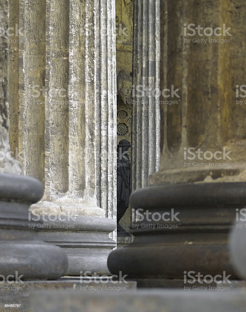 Cathedral's Colonnade stock photo