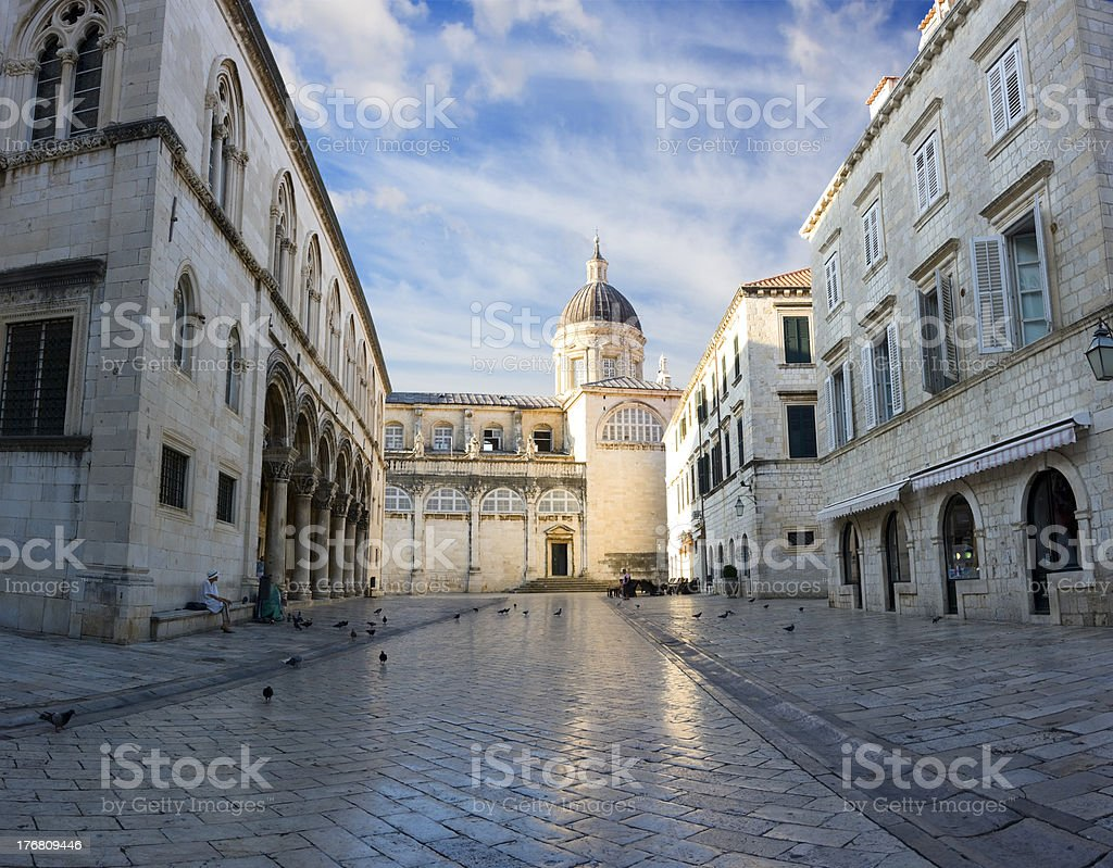 Cathedral-Treasury in Dubrovnik stock photo