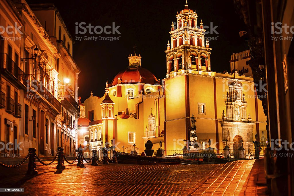 Catherdal at Night stock photo