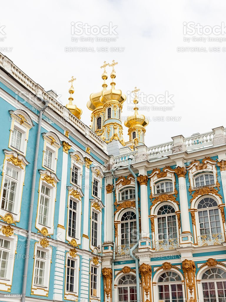 Catherine Palace in Saint Petersburg, Russia stock photo