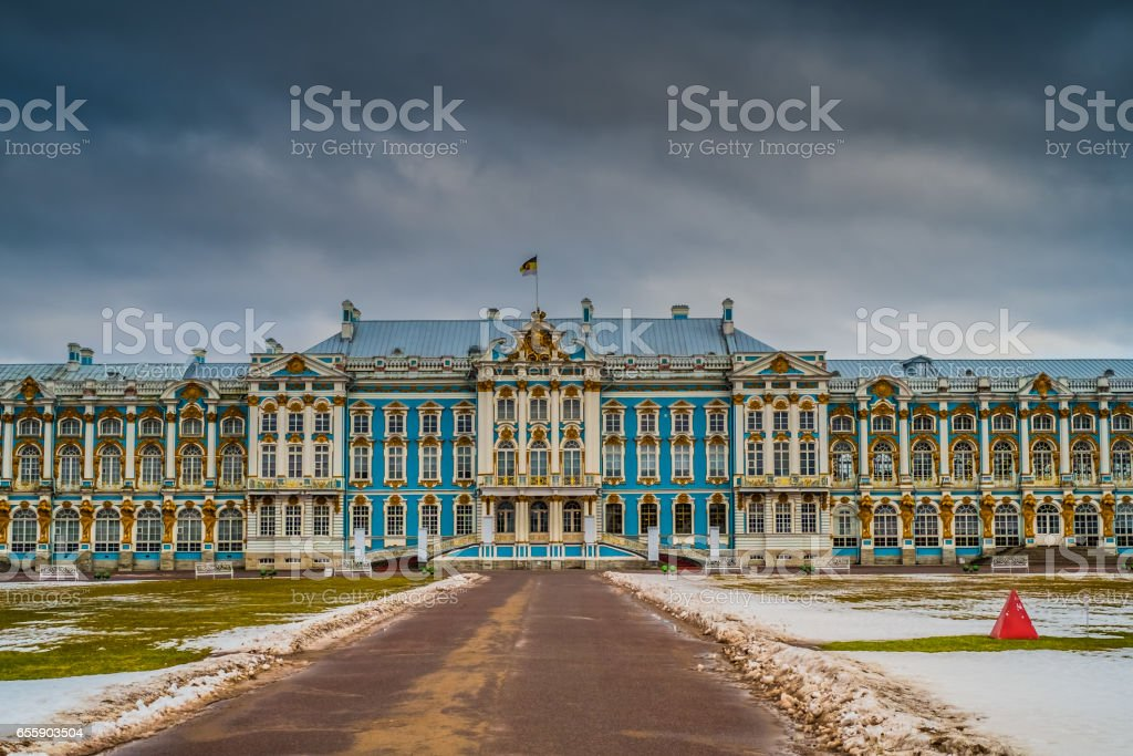 Catherine Palace in Tsarskoye Selo, Pushkin,  Saint Petersburg stock photo