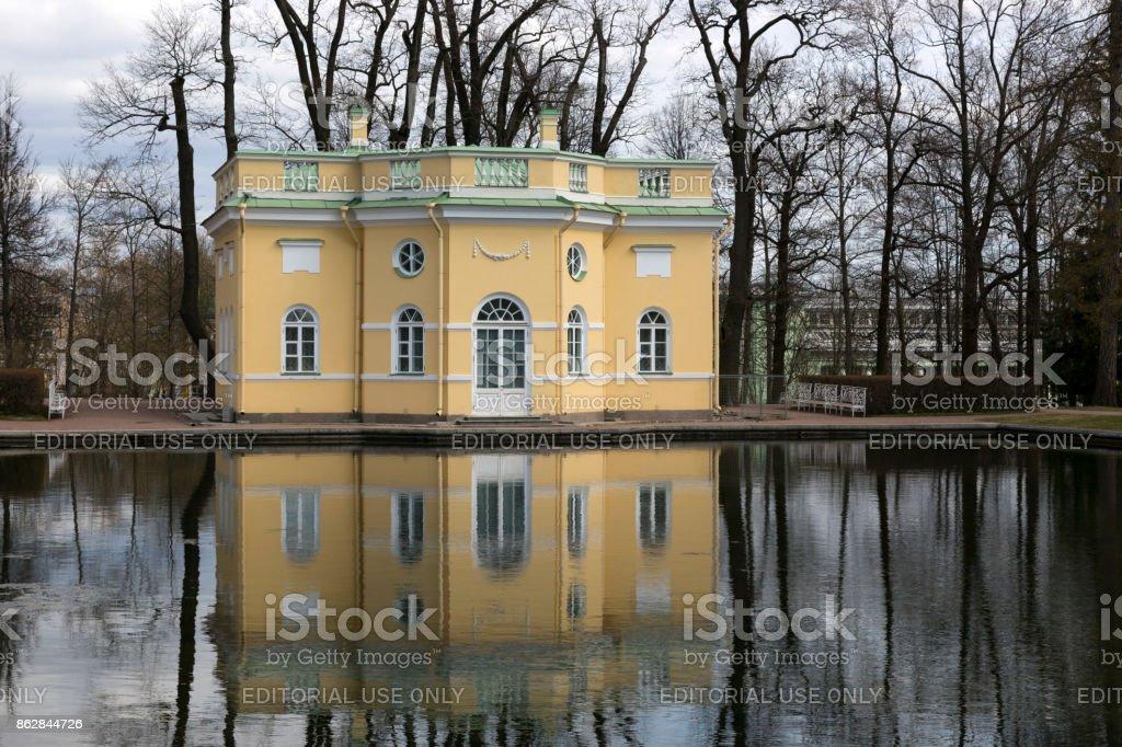 Catherine Park in the city of Pushkin. stock photo