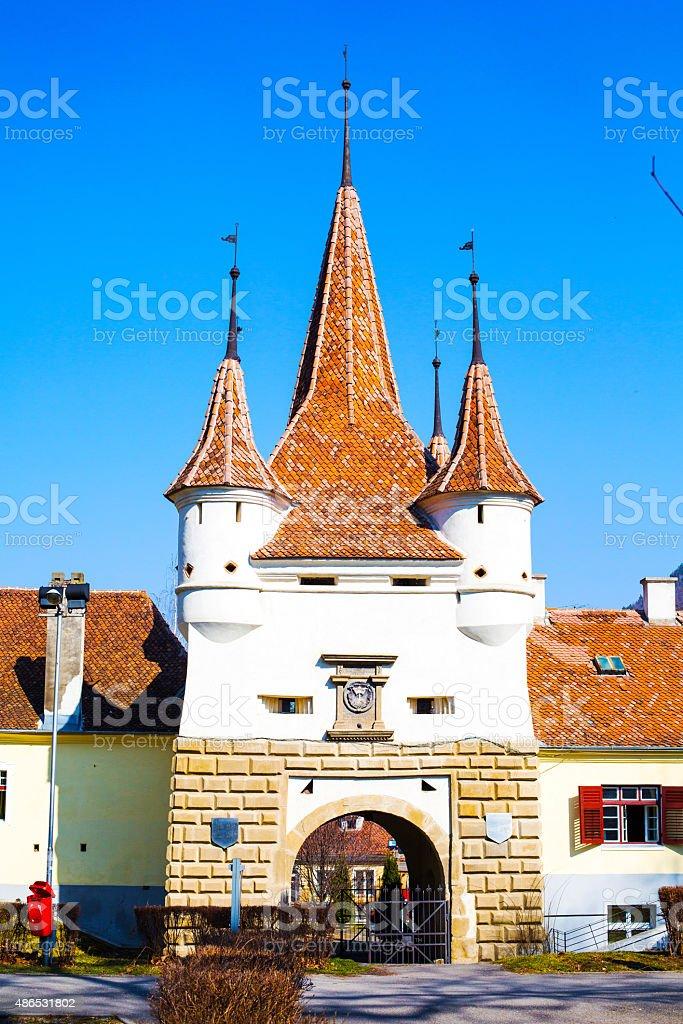 Catherine's Gate in Brasov, Romania stock photo