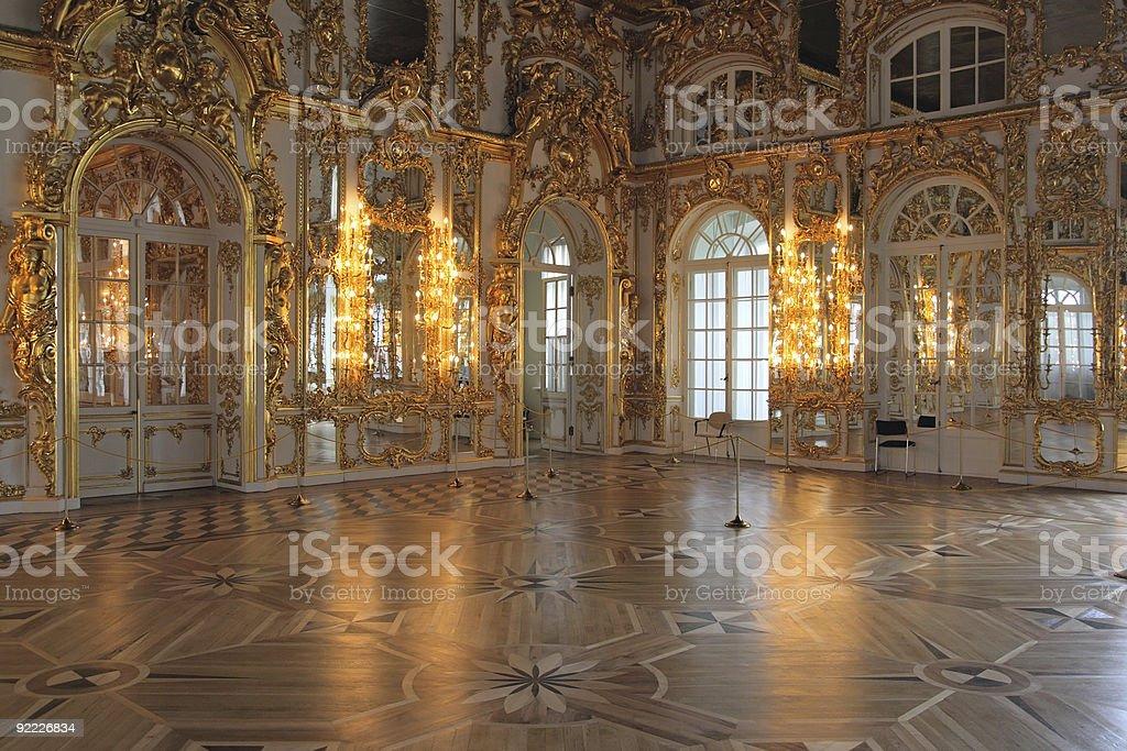 Catherine's Palace hall, Tsarskoe Selo (Pushkin), Russia. royalty-free stock photo