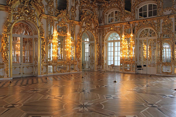 catherine's palace hall, tsarskoe selo (pushkin), russia. - baroque stock photos and pictures