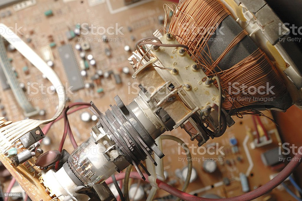 Cathode ray tube of tv royalty-free stock photo