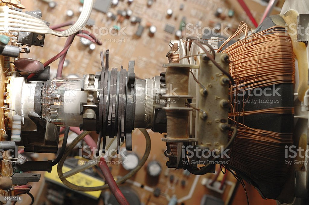 Cathode ray tube of tv royalty-free stock photo