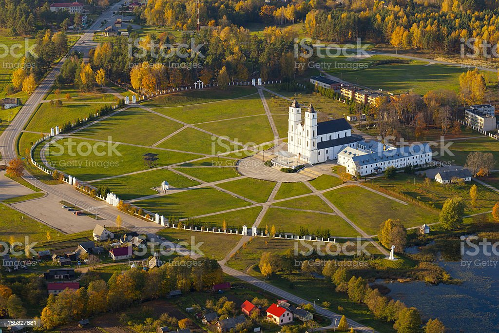 Catholic basilica in Aglona Latvia stock photo