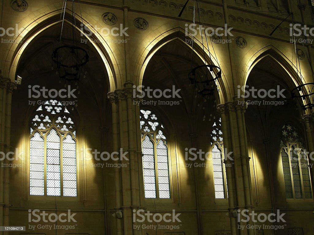 Catholic Cathedral Church Interior royalty-free stock photo