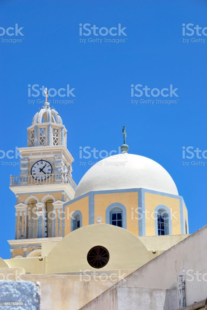 Catholic Cathedral Fira royalty-free stock photo