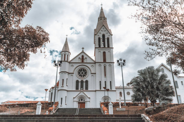 Catholic cathedral in a small Brazilian town stock photo