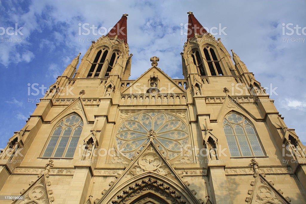 Catholic Cathedral Spires stock photo