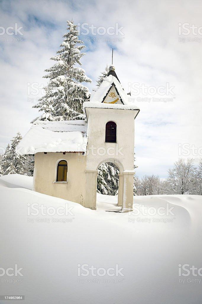 Catholic Chapel in Slovenia Europe royalty-free stock photo