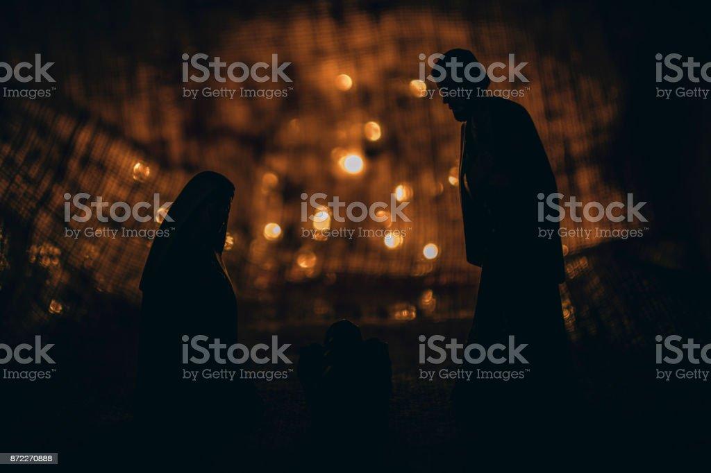Catholic Christmas Decoration stock photo