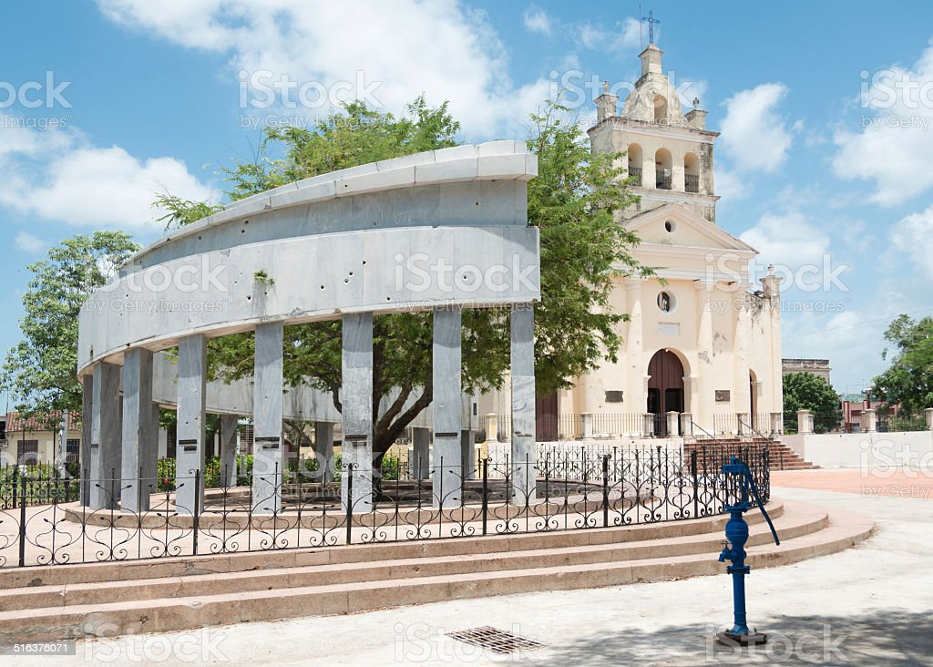 Catholic Church El Carmen in Santa Clara,Cuba stock photo