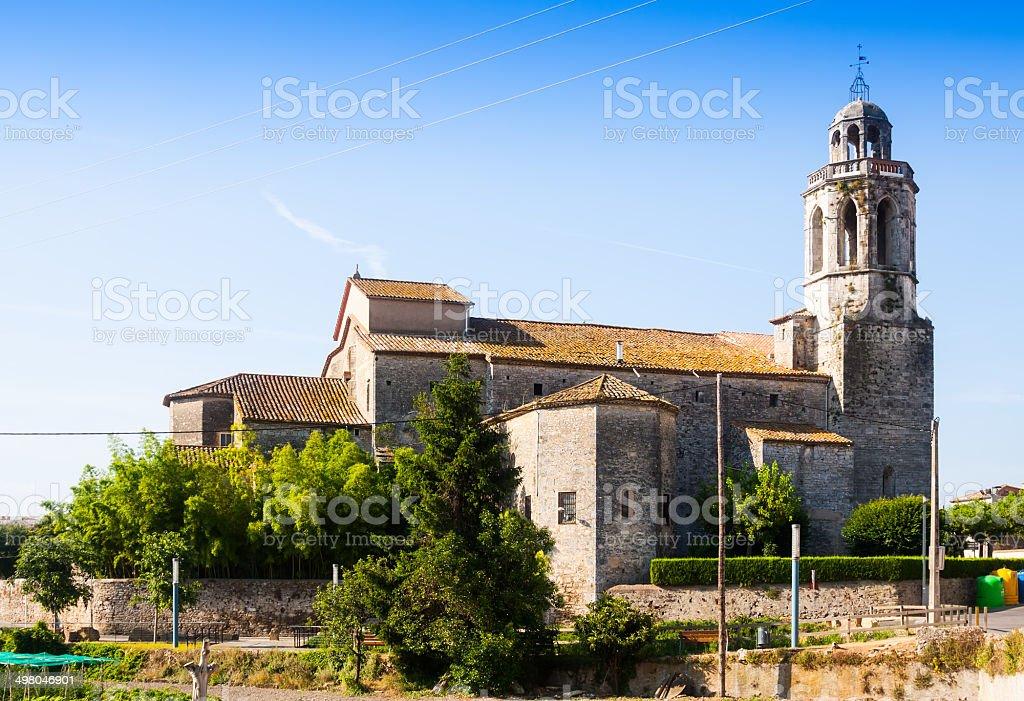 catholic church in Banyoles stock photo