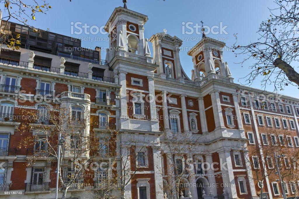 Katolik Kilisesi şehir Madrid, İspanya - Royalty-free Anıt Stok görsel