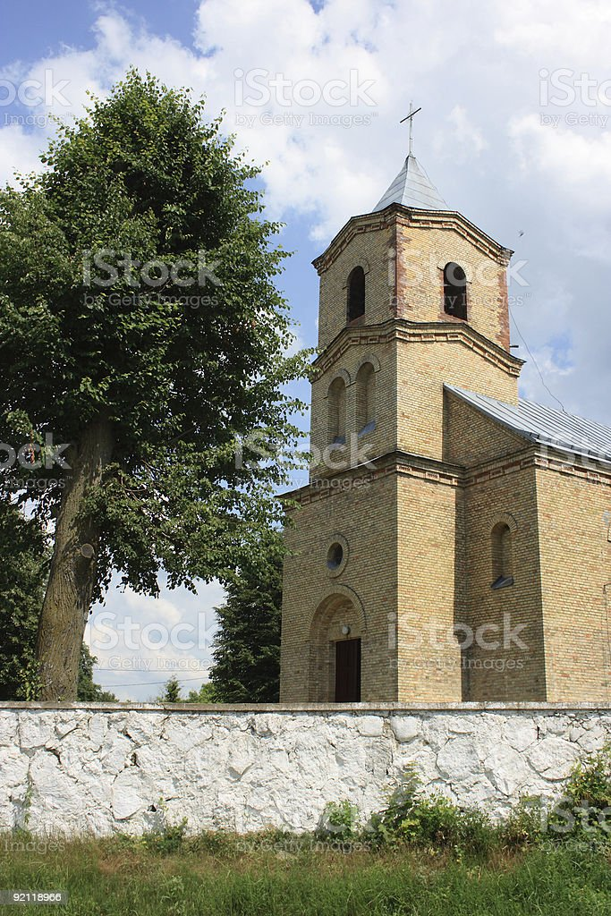 Catholic Church in Lida region royalty-free stock photo