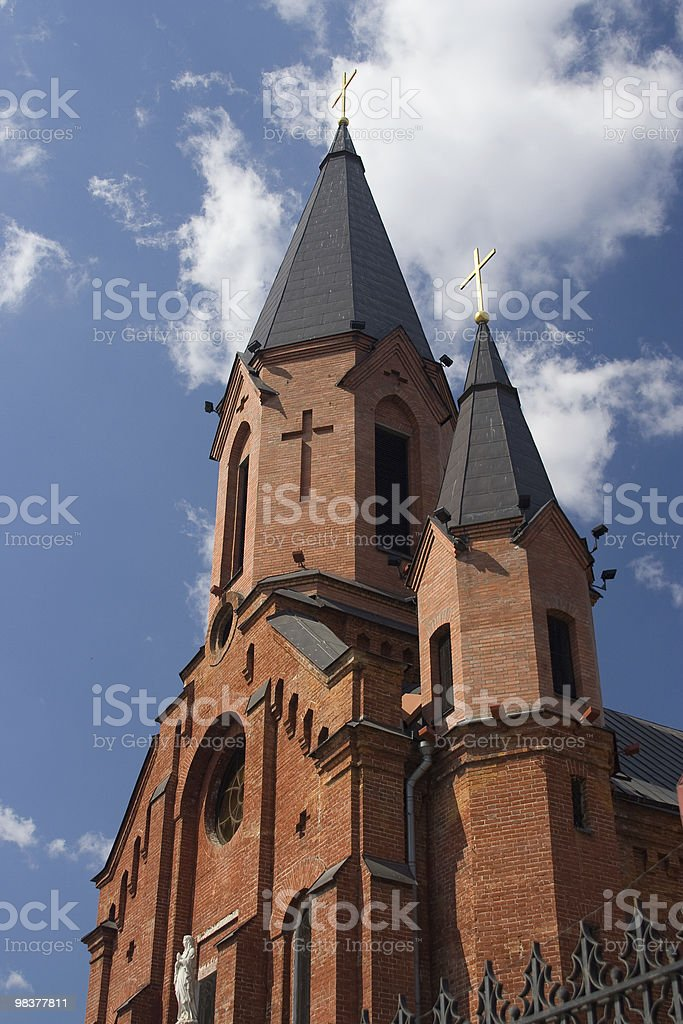 Catholic Church in Tobolsk (Russia) royalty-free stock photo