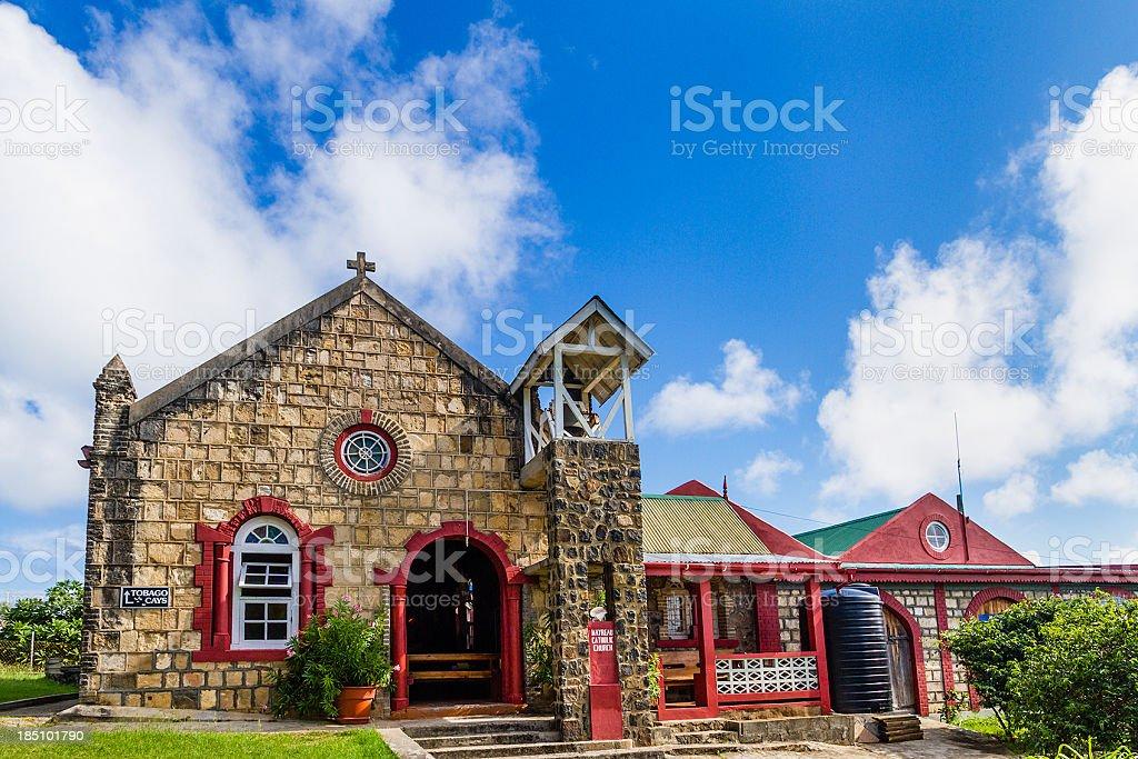 Catholic Church, Mayreau royalty-free stock photo
