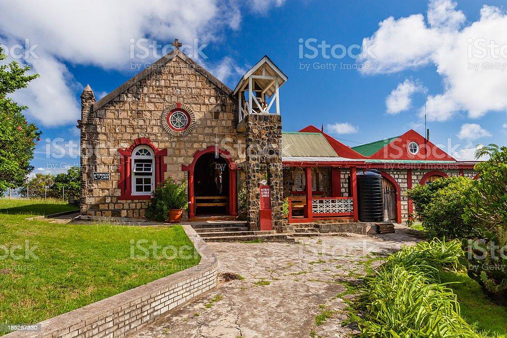 Catholic Church, Mayreau stock photo