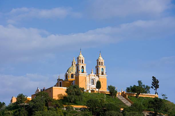 Catholic Church Cholula Catholic Church puebla state stock pictures, royalty-free photos & images
