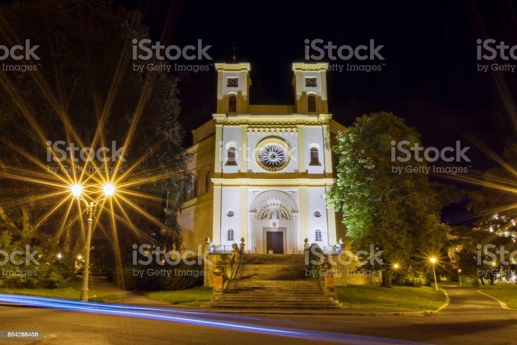 Catholic church - spa resort Marianske Lazne (Marienbad) stock photo