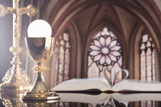 catholic concept. - communion stock photos and pictures