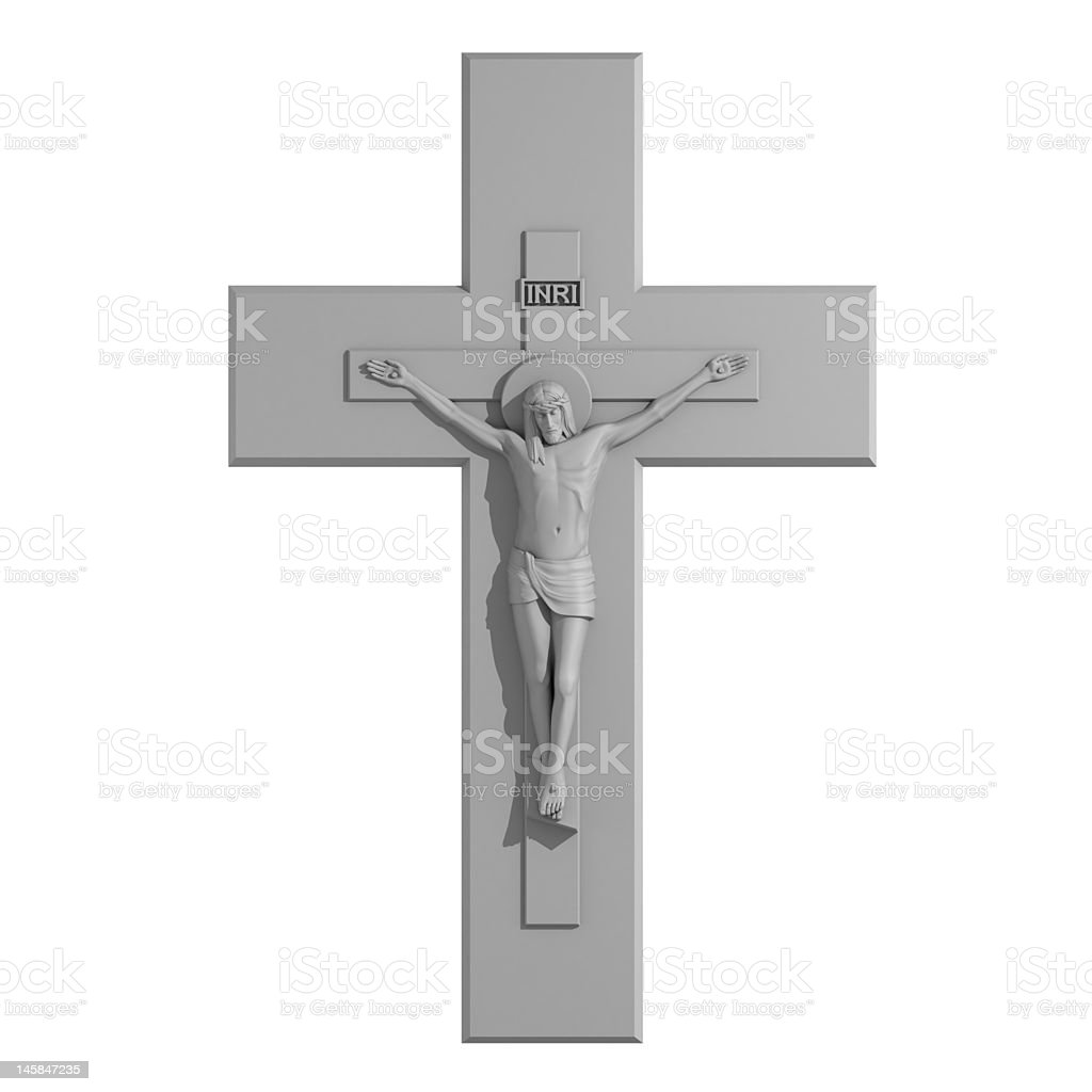 Catholic Cross with the Crucifixion. royalty-free stock photo