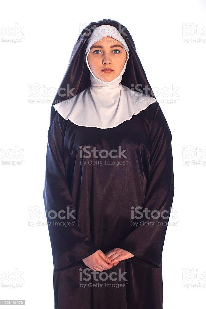 Catholic nun stock photo